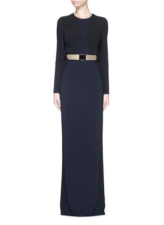 Cutout front crepe dress