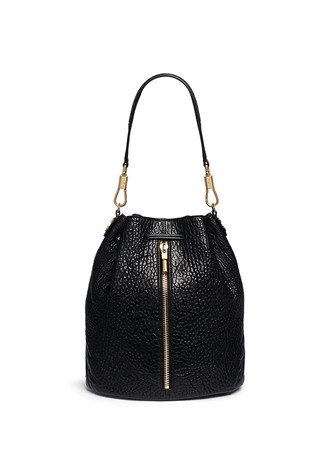 'Cynnie Sling' grainy leather bucket bag