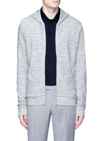 'Danen H' zip French terry hoodie