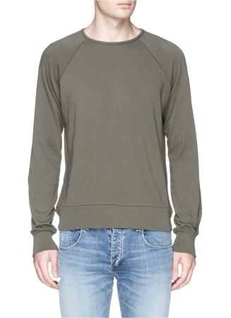 'David' garment dye cotton sweatshirt