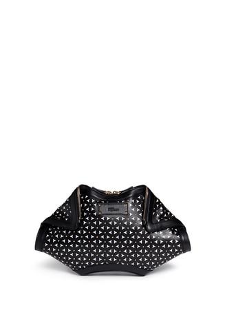 'De Manta' floral lasercut leather clutch