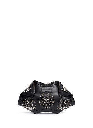 'De Manta' floral stud leather clutch