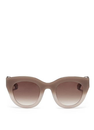 Deeply ombré plastic cat eye sunglasses