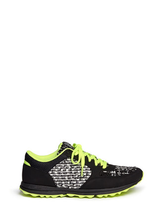 'Des' bouclé panel faux leather sneakers