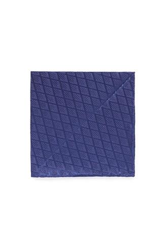 Diamond jacquard silk pocket square