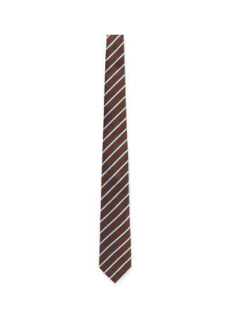 Diamond regimental stripe silk tie