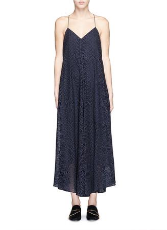 'Diffusion' eyelet cotton maxi dress