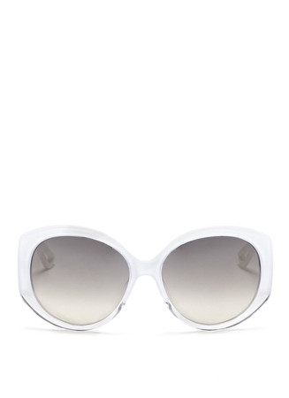 'Dior Extase 1' metal temple ombré acetate sunglasses