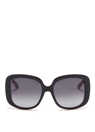 'Dior Lady Lady 1' cannage temple sunglasses