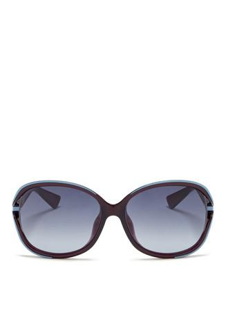 'Diorelle' metal curve suspended sunglasses
