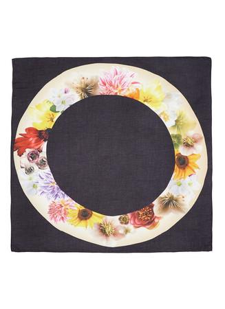 'Dishfull' floral print modal-cashmere scarf