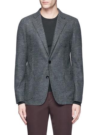 Dot print felted soft blazer
