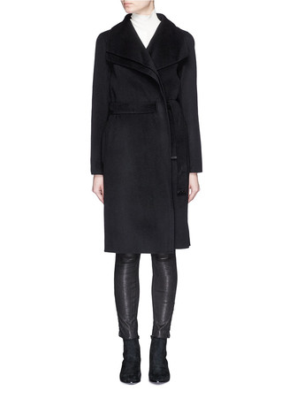 Double layer drape collar coat