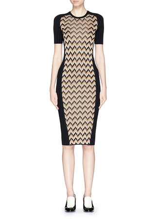 'Elaine' chevron knit bodycon dress