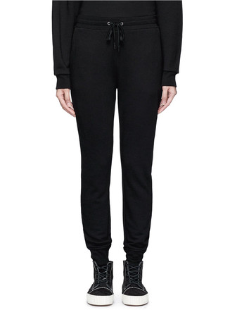 Elastic cuff French terry sweatpants