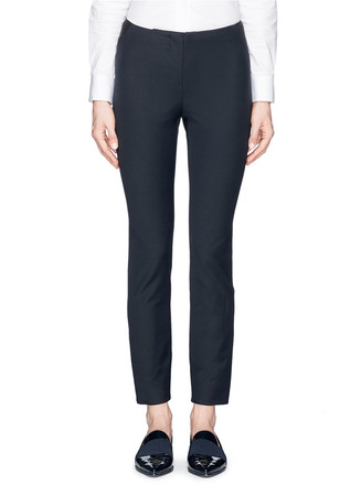 Elastic waist insert stretch twill leggings