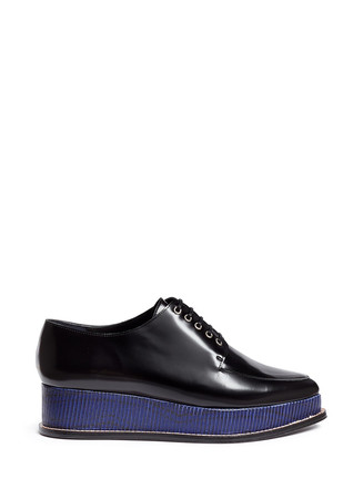 'Eleanora' wedge platform leather Oxfords