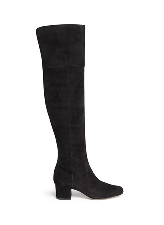 'Elina' suede thigh high boots