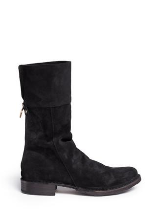 'Ella' foldover cuff suede boots