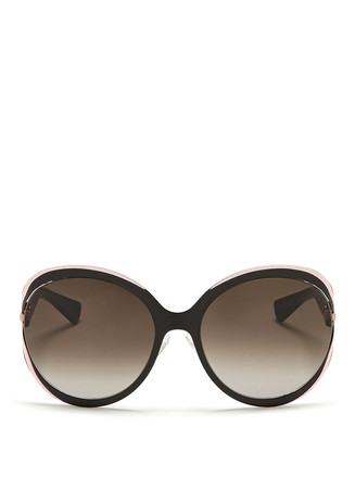 'Elle 1' metal curve suspended sunglasses