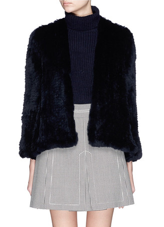 'Emily' rabbit fur knit jacket