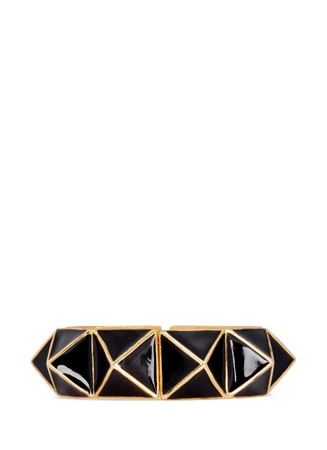 Enamel pyramid stud bracelet