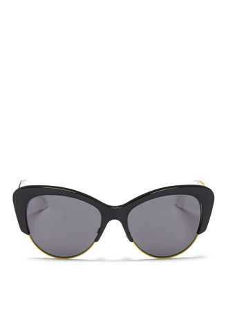 'Envol 1' contour temple wire rim acetate sunglasses