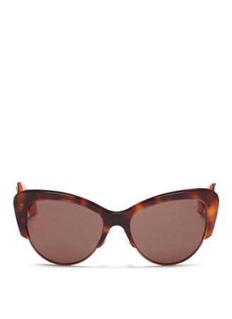 'Envol 1' contour temple wire rim tortoiseshell sunglasses
