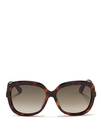 'Envol' stripe temple tortoiseshell acetate sunglasses