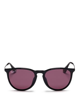 'Erika' acetate frame metal temple sunglasses