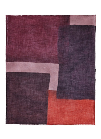 'Evans' colourblock wool-cashmere scarf
