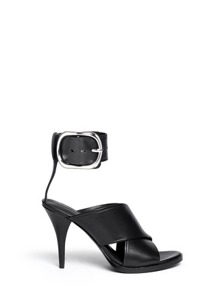 'Evelin' buckle cuff leather sandals