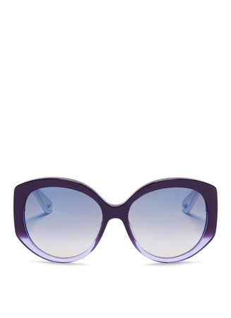 'Extase 1' metal temple ombré acetate sunglasses