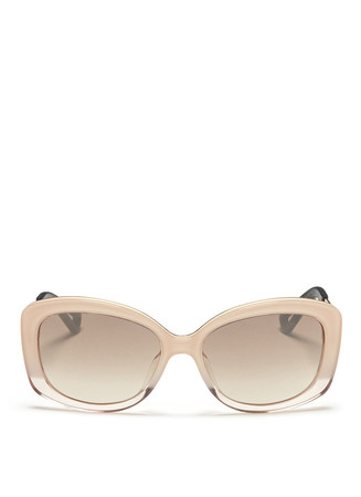 'Extase 2' metal temple ombré acetate sunglasses
