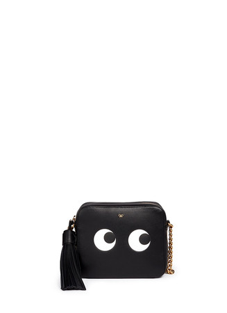 'Eyes' embossed leather chain crossbody bag