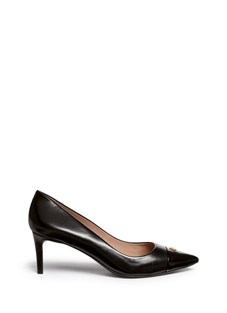 'Fairford' patent leather toe cap pumps