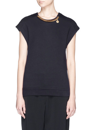 'Falabella' chain neck sleeveless sweatshirt