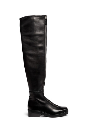 'Federica High' double zip leather boots