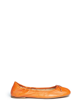 'Felicia' leather ballerina flats