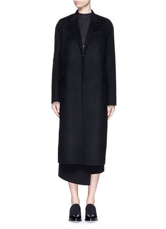 Felted wool blend coat