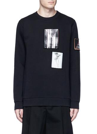 Flag patch cotton sweatshirt