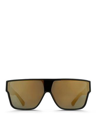 Flat top acetate mask sunglasses