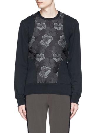 Floral jacquard harness sweatshirt