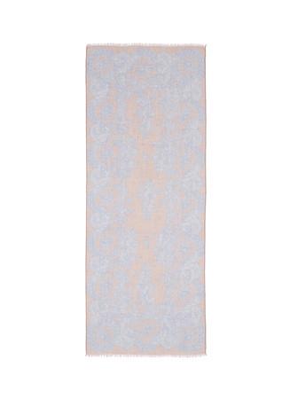 Floral lace print cashmere-silk scarf