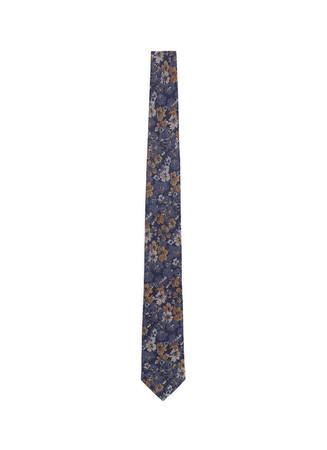 Floral wool-silk tie