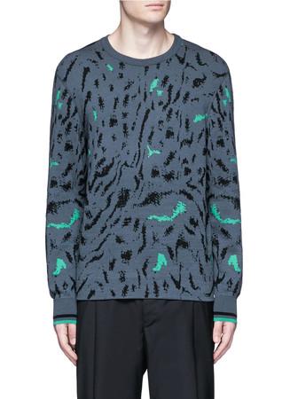 Fog jacquard wool-silk sweater