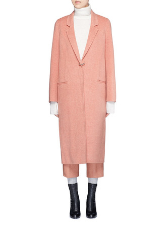 'Foin' wool-cashmere coat