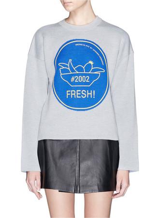 'Fresh!' cotton sweatshirt