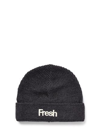 'Fresh' embroidery wool blend beanie