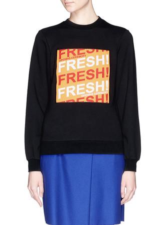 Fresh slogan appliqué front sweatshirt